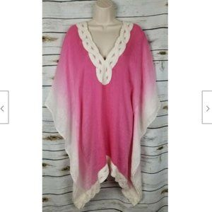 Soft Surroundings Pink Ombre Coverup Top Linen